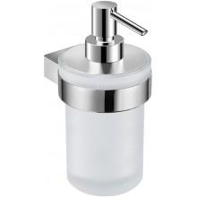 JIKA PURE dávkovač tekutého mýdla 76x107mm s držákem, chrom/matné sklo