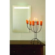 AMIRRO LUNA LED zrcadlo 50x70cm, s LED osvětlením, s řetízkovým spínačem