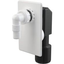 CONCEPT pračkový sifon podomítkový, bílá