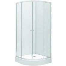KOLO FIRST set čtvrtkruhového sprchového koutu a vaničky 80cm, sklo satin ZKPG80214003Z1