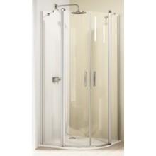 Zástěna sprchová čtvrtkruh Huppe sklo Design elegance 900x1900mm stříbrná matná/čiré