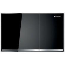 GEBERIT SIGMA60 ovládací tlačítko 214x132mm pro 2 množství splachování, plošně zalícované, sklo černé
