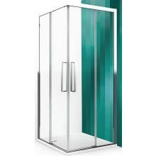 ROLTECHNIK EXCLUSIVE LINE ECS2P/900 sprchové dveře 900x2050mm pravé, dvoudílné posuvné, černý elox/transparent