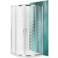 ROLTECHNIK PROXIMA LINE PXR2N DESIGN PLUS sprchový kout 900x2000mm R550 čtvrtkruh, s dvoudílnými posuvnými dveřmi, brillant/potisk