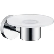 HANSGROHE LOGIS miska na mýdlo Ø120mm, chrom/sklo 40515000