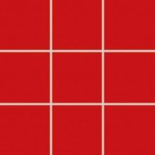 RAKO COLOR TWO mozaika 10x10cm, lepená na síťce, červená
