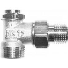 """HERZ RL-5 radiátorové šroubení 1/2"""" uzavíratelné, rohové, regulační, s vypouštěním"""