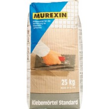 MUREXIN STANDARD malta lepící 25kg, prášková, pro tenkovrstvé lepení