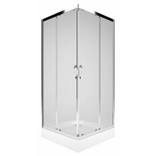 KOLO REKORD čtvercový sprchový kout 900x900mm posuvné dveře, stříbrná lesklá/čiré sklo PKDK90222003