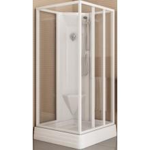 RAVAK SUPERNOVA ASBP3 90 sprchový box 900x900x2065mm, rohový, s pevnou stěnou, bílá/transparent