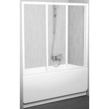 RAVAK AVDP3 170 vanové dveře 1670-1710x1380mm třídílné, posuvné, satin/rain 40VV0U0241