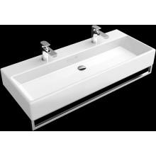 VILLEROY & BOCH MEMENTO umyvadlo 1000x470mm klasické se 2 otvory, bez přepadu Bílá Alpin  CeramicPlus 5133A1R1