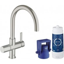 GROHE BLUE PURE startovní sada 225mm, supersteel