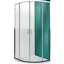 ROLTECHNIK LEGA LINE LLR2/800 sprchový kout 800x1900mm čtvrtkruhový, s dvoudílnými posuvnými dveřmi, rámový, brillant/transparent