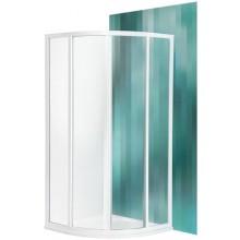 ROLTECHNIK CLASSIC LINE CR2/800 sprchový kout 800x1850mm R550 čtvrtkruh, s dvoudílnými posuvnými dveřmi, bílá/bark