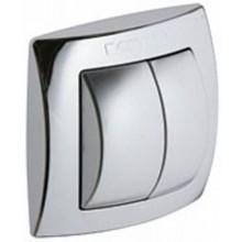 GEBERIT ovládání splachování WC 10,8x10,8cm, ruční/pneumatické, chrom lesk/mat 115.942.KA.1