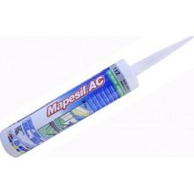 MAPEI MAPESIL AC silikonový tmel 310ml, těsnící, 103 měsíční bílá