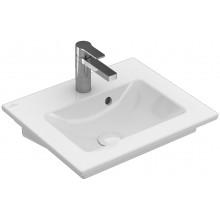 VILLEROY & BOCH VERITY LINE nábytkové umývátko 500x420mm, s otvorem a přepadem, bílá Alpin Ceramicplus