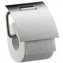 AXOR STEEL držák na toaletní papír 138mm, s krytem, nerezová ocel 41838800