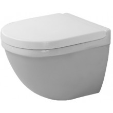 WC závěsné Duravit odpad vodorovný Starck 3 Compact s hlubokým splachováním, vč.upevnění 36x48,5 cm bílá+WonderGliss