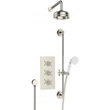 HERITAGE DAWLISH sprchový set 635mm včetně termostatické podomítkové baterie, zlatá vintage