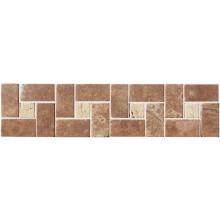 RAKO TRAVERTIN kamenná mozaika 30x7,5cm, bordura, hnědá