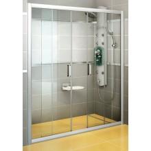 RAVAK RAPIER NRDP4 160 sprchové dveře 1570-1610x1900mm čtyřdílné, posuvné, satin/grape 0ONS0U00ZG