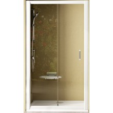 RAVAK RAPIER NRDP2 110 sprchové dveře 1070-1110x1900mm dvoudílné, posuvné, levé, satin/transparent 0NND0U0LZ1