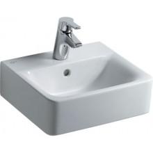 Umývátko klasické Ideal Standard s otvorem Connect Cube 40x36 cm bílá