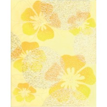 Dekor Rako Candy 20x25 cm žlutá s květy