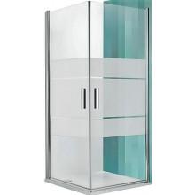 ROLTECHNIK TOWER LINE TCO1/900 sprchové dveře 900x2000mm jednokřídlé, bezrámové, stříbro/transparent