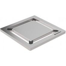 GEBERIT mřížka 7,1x0,4x7,1cm, pro sprchový odtok, desing čtverec