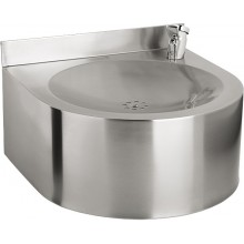SANELA SLUN62 pitná fontánka 350x350x200mm, závěsná, s tlačnou armaturou, nerez