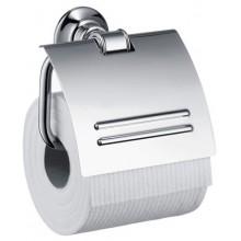 AXOR MONTREUX držák na toaletní papír 79mm, s krytem,  kartáčovaný nikl 42036820