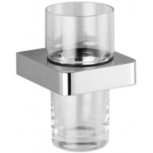 DORNBRACHT LULU držák se skleničkou 60mm nástěnný, chrom/sklo