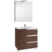 ROCA PACK VICTORIA-N FAMILY nábytková sestava 805x460x740mm skříňka s umyvadlem a zrcadlem s osvětlením dub 7855847155