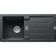 FRANKE STRATA STG 614 dřez 860x435mm s odkapávačem, Fragranit DuraKleen Plus/grafit
