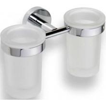 GOZ METAL držák sklenic 200x120x100mm, na 2 skleničky, mosaz, chrom