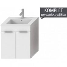 JIKA CUBE skříňka s umyvadlem 550x430x607mm, bílá/bílá 4.5361.1.176.300.1
