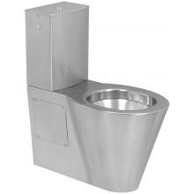 SANELA SLWN 15 WC kombi, 360x655x745mm, s nádržkou, nerez mat
