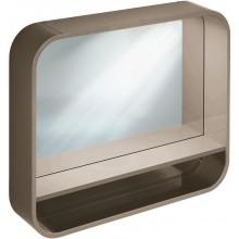 IDEAL STANDARD DEA zrcadlo 800mm s rámem a poličkou, lesklý lak světle hnědý T7862S3