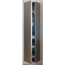 DURAVIT DARLING NEW vysoká skříňka 400x340mm závěsná Pine Silver/bílá matná DN1274L3118