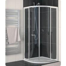 SANSWISS ECO-LINE ECOR sprchový kout 900x900x1900mm, R500 s dvoudílnými posuvnými dveřmi, čtvrtkruh, aluchrom/čiré sklo Aquaperle