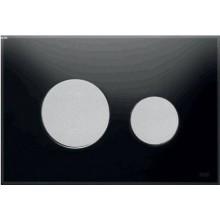 TECE LOOP ovládací tlačítko 220x150mm, dvoumnožstevní splachování, černá/mat-chrom