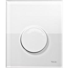 TECE LOOP ovládací tlačítko 104x124mm, na pisoár, včetně kartuše, bílá/sklo