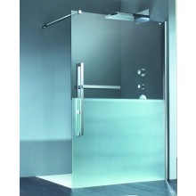 HÜPPE DUPLO PURE walk-in 1200x2000mm s nástěnnou lištou chrom/čirá anti-plague DT0012.C91.322