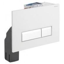 GEBERIT SIGMA 40 ovládací tlačítko s integrovaným odsáváním zápachu 26,6x18,2cm, alpská bílá/kartáčovaný hliník 115.600.KQ.1