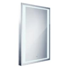 Nábytek zrcadlo Nimco s LED osvětlením se senzorem 80x60 cm hlíníkový rám
