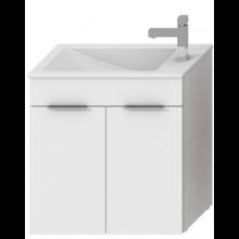 JIKA CUBE skříňka s umyvadlem 600x340x607mm, bílá/bílá 4.5363.1.176.300.1