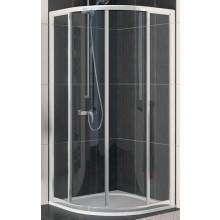 SANSWISS ECO LINE ECOR sprchový kout 900x900x1900mm, R550 s dvoudílnými posuvnými dveřmi, čtvrtkruh, matný elox/sklo Durlux